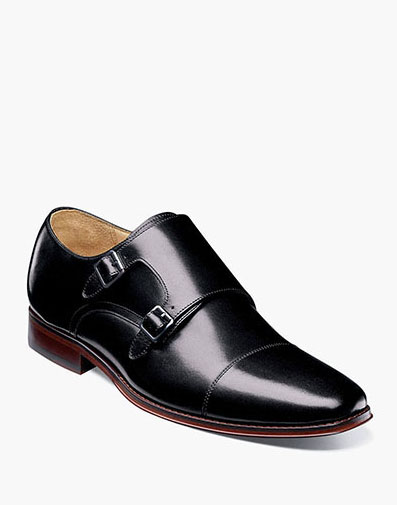 Palermo Cap Toe Monk Strap in Black for 149.90 dollars.