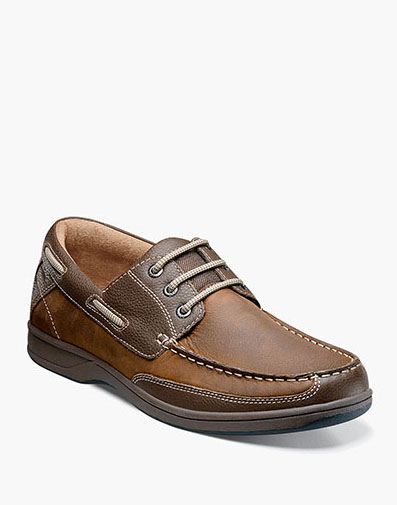 Lakeside Oxford Boat Shoe in Stone for 105.00 dollars.