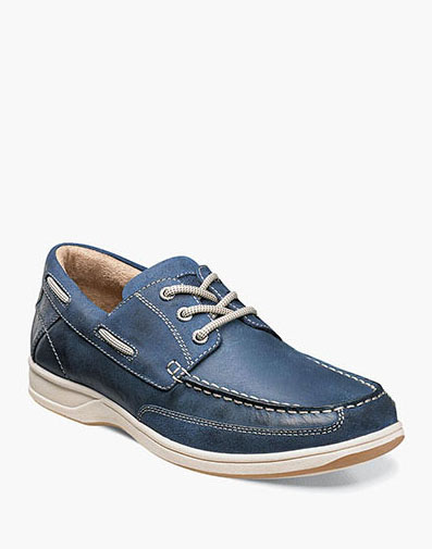 Lakeside  Oxford Boat Shoe in Indigo for 79.90 dollars.