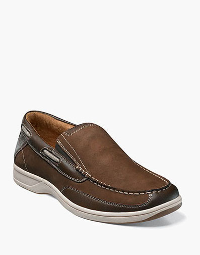 Lakeside Slip On Boat Shoe in Brown for 105.00 dollars.