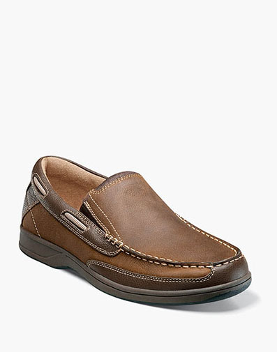 Lakeside Slip On Boat Shoe in Stone for 105.00 dollars.