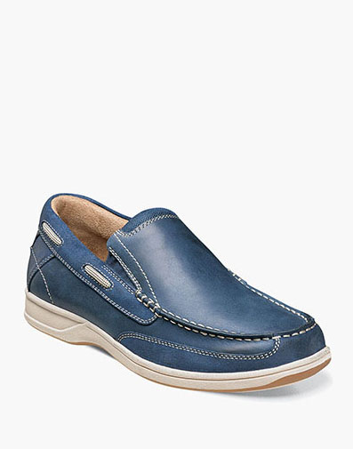 Lakeside Slip On Boat Shoe in Indigo for 69.90 dollars.