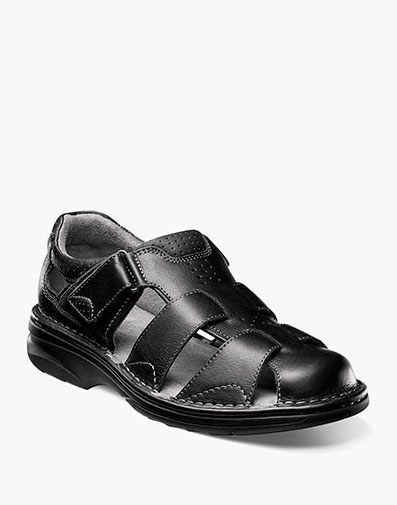 Getaway Fisherman Sandal in Black for 115.00 dollars.