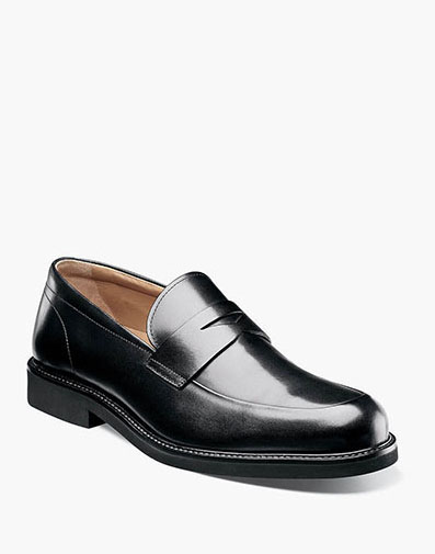 Gallo Moc Toe Penny Loafer in Black for 129.90 dollars.