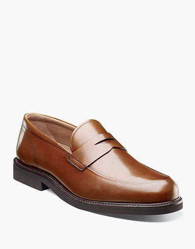 Gallo Moc Toe Penny Loafer in Cognac for 129.90 dollars.