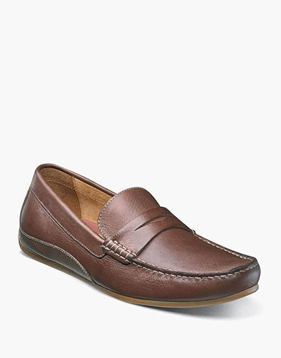 Oval Moc Toe Penny Driver in Cognac for 79.90 dollars.