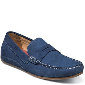 Oval Moc Toe Penny Driver in Blue for $59.90