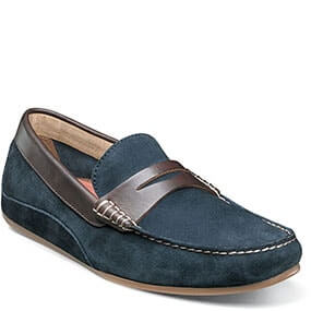 Oval Moc Toe Penny Driver in Navy Multi for $59.90
