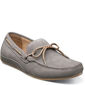 Oval  Moc Toe Tie Driver in Gray for $79.90