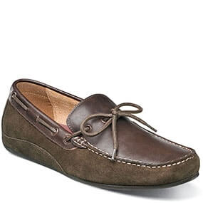 Oval  Moc Toe Tie Driver in Mushroom Multi for 79.90 dollars.