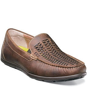 Draft Moc Toe Woven Driver in Brown CH for 79.90 dollars.
