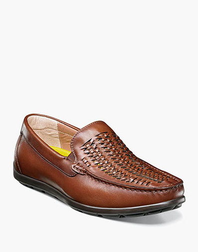 Draft Moc Toe Woven Driver in Cognac for 79.90 dollars.