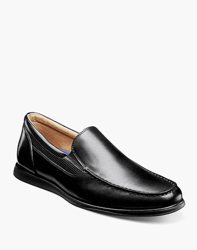 Atlantic Moc Toe Venetian Slip On in Black for 105.00 dollars.