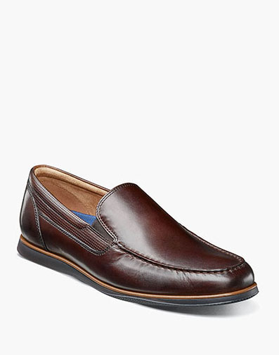 Atlantic Moc Toe Venetian Slip On in Brown for 105.00 dollars.