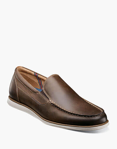 Atlantic Moc Toe Venetian Slip On in Brown CH for 105.00 dollars.