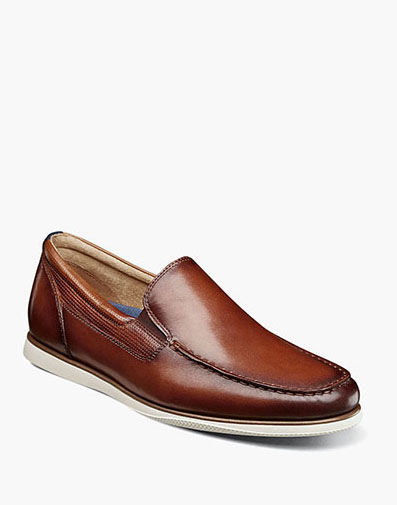 Atlantic Moc Toe Venetian Slip On in Cognac for 105.00 dollars.