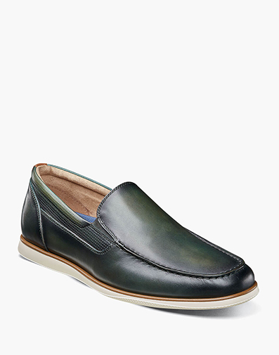 Atlantic Moc Toe Venetian Slip On in Olive for 79.90 dollars.