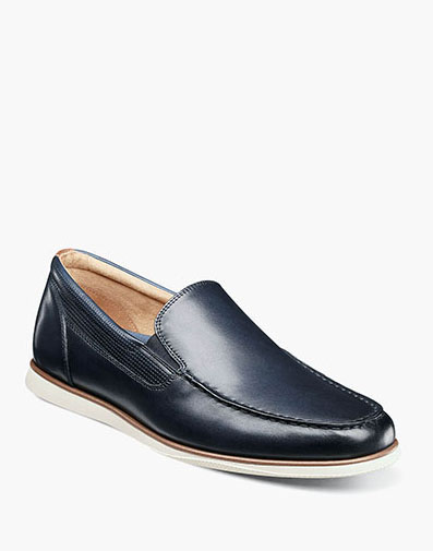 Atlantic Moc Toe Venetian Slip On in Navy for $100.00