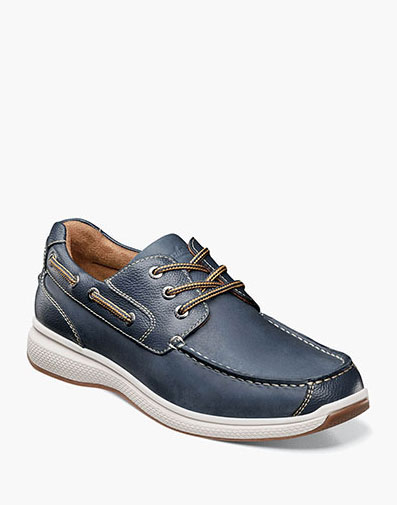 Great Lakes Moc Toe Oxford in Indigo for $100.00