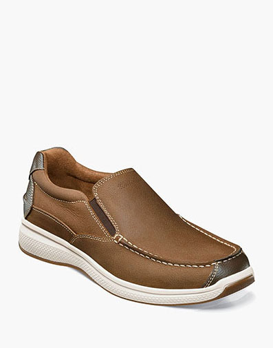 Great Lakes Moc Toe Slip On in Stone for 105.00 dollars.