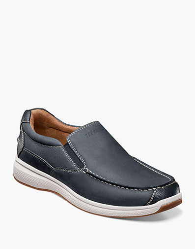 Great Lakes Moc Toe Slip On in Indigo for $100.00