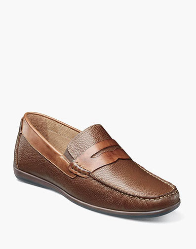 Intrepid Moc Toe Penny Driver in Cognac Tumbled for $90.00