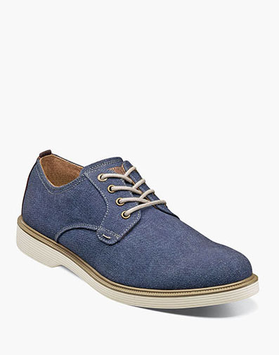 Supacush Canvas Plain Toe Oxford in Navy for $100.00