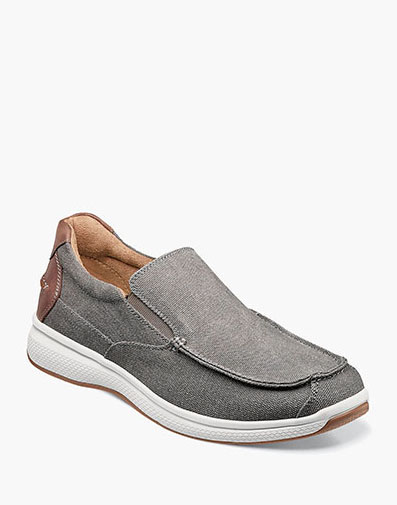 Great Lakes Canvas Moc Toe Slip On in Gray for 85.00 dollars.