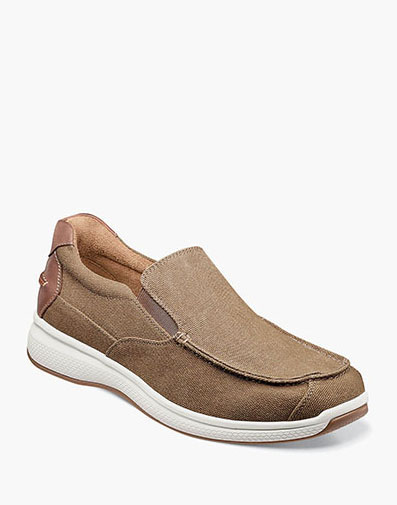 Great Lakes Canvas Moc Toe Slip On in Sand for 85.00 dollars.