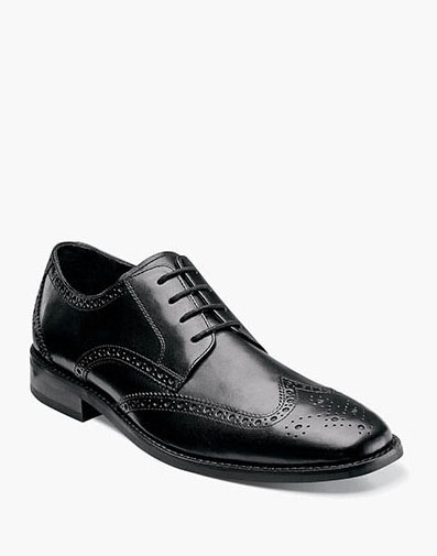 Castellano Wingtip Oxford in Black for 49.90 dollars.