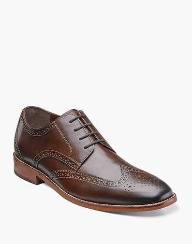 Castellano Wingtip Oxford in Brown for 49.90 dollars.