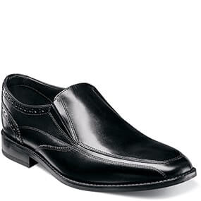 Castellano Moc Toe Slip On Loafer in Black for 49.90 dollars.