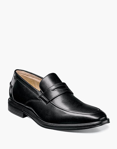 Heights Moc Toe Penny Loafer in Black for 79.90 dollars.