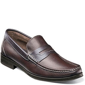 Westbrooke Moc Toe Penny Loafer in Brown Tumbled for 39.90 dollars.