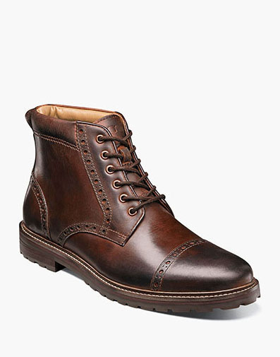 Estabrook  Cap Toe Boot in Brown CH for $125.00