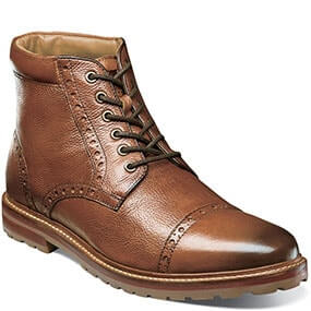 Estabrook  Cap Toe Boot in Cognac Tumbled for $94.90