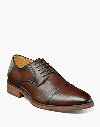 Blaze Cap Toe Oxford in Brown for 89.90 dollars.