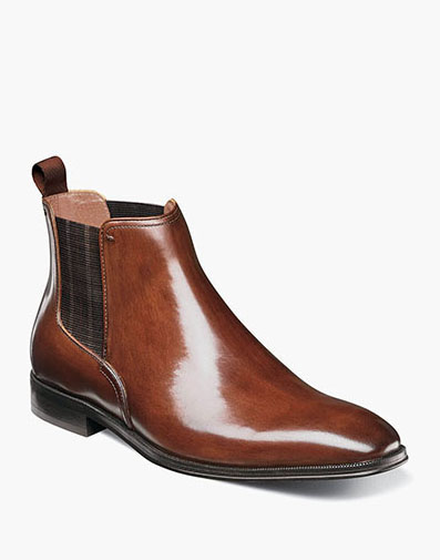 Belfast Plain Toe Gore Boot in Cognac for 99.90 dollars.