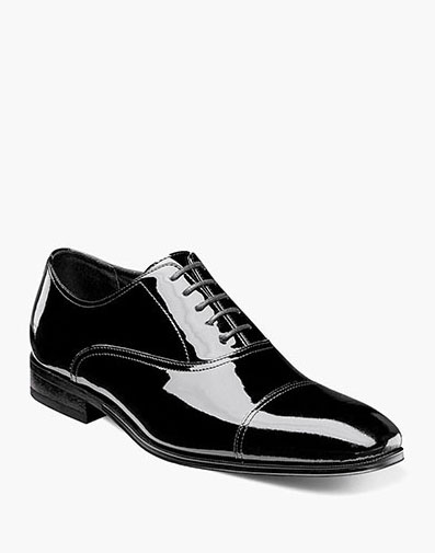 Tux  Cap Toe Oxford in Black Patent for 115.00 dollars.