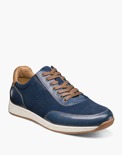 Fusion  Moc Toe Lace Up Sneaker in Blue for $100.00