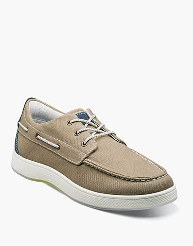 Edge  Moc Toe Boat Shoe in Khaki for 64.90 dollars.