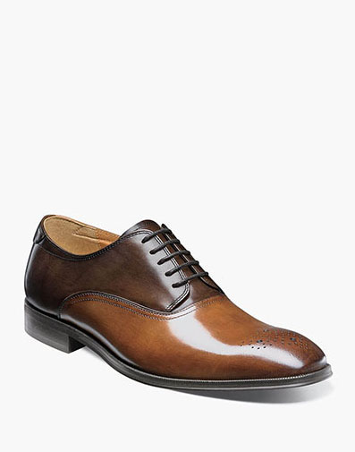 Belfast Medallion Toe Oxford in Cognac Multi for 94.90 dollars.