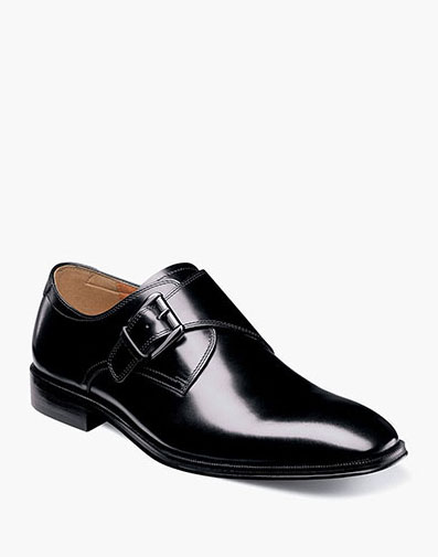 Belfast Plain Toe Monk Strap in Black for 94.90 dollars.