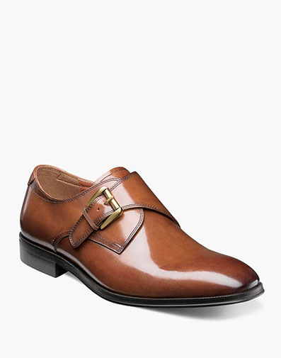 Belfast Plain Toe Monk Strap in Cognac for $94.90