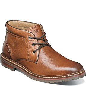 Estabrook Plain Toe Chukka Boot in Cognac Tumbled for $94.90