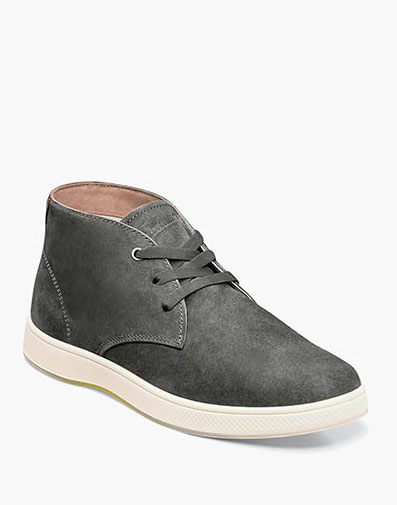Edge Plain Toe Chukka Boot in Charcoal for $110.00