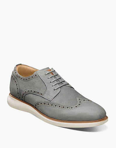 Fuel Wingtip Oxford in Light Gray for $120.00