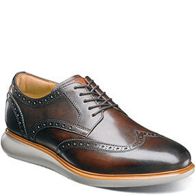 Fuel Wingtip Oxford in Brown for $120.00