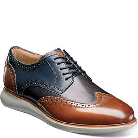 Fuel Wingtip Oxford in Cognac Multi for $120.00