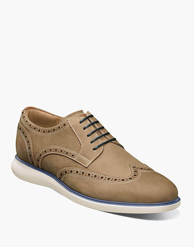 Fuel Wingtip Oxford in Tan for $120.00